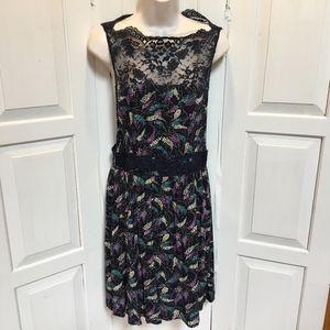 Free People Floral Dress w/ Lace